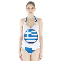 Greece Greek Europe Athens Halter Swimsuit