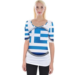 Greece Greek Europe Athens Wide Neckline Tee