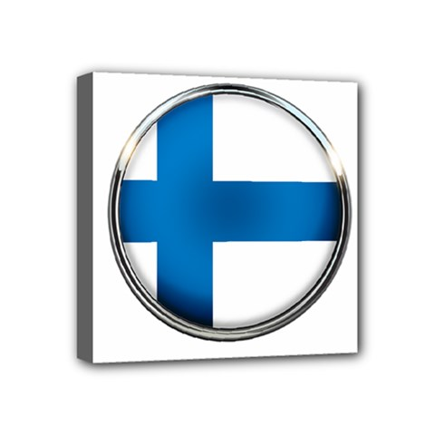 Finland Country Flag Countries Mini Canvas 4  X 4  by Nexatart