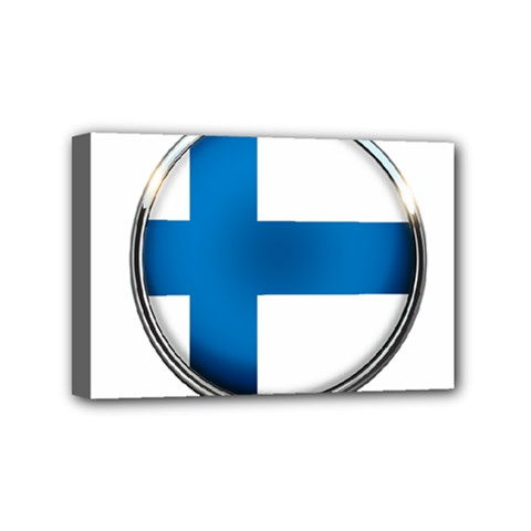Finland Country Flag Countries Mini Canvas 6  X 4