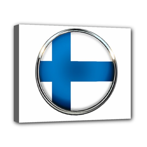 Finland Country Flag Countries Canvas 10  X 8  by Nexatart
