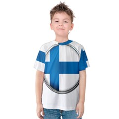 Finland Country Flag Countries Kids  Cotton Tee