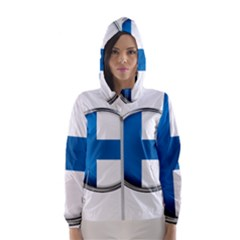 Finland Country Flag Countries Hooded Wind Breaker (women)