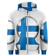 Finland Country Flag Countries Men s Zipper Hoodie by Nexatart
