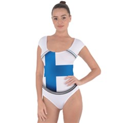 Finland Country Flag Countries Short Sleeve Leotard