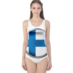 Finland Country Flag Countries One Piece Swimsuit