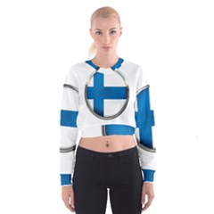 Finland Country Flag Countries Cropped Sweatshirt