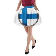 Finland Country Flag Countries A Line Pocket Skirt