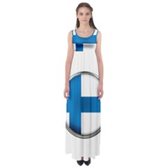Finland Country Flag Countries Empire Waist Maxi Dress