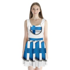 Finland Country Flag Countries Split Back Mini Dress