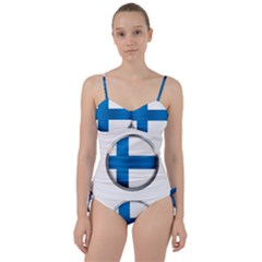 Finland Country Flag Countries Sweetheart Tankini Set