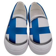 Finland Country Flag Countries Men s Canvas Slip Ons