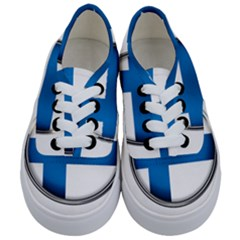 Finland Country Flag Countries Kids  Classic Low Top Sneakers