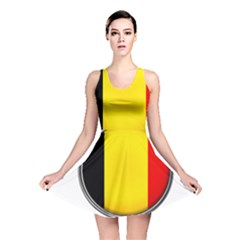 Belgium Flag Country Brussels Reversible Skater Dress
