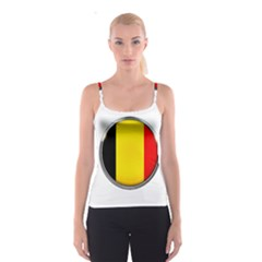 Belgium Flag Country Brussels Spaghetti Strap Top