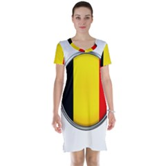 Belgium Flag Country Brussels Short Sleeve Nightdress