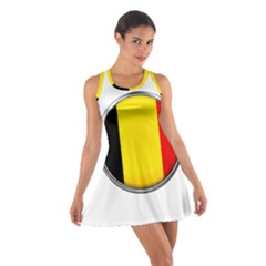 Belgium Flag Country Brussels Cotton Racerback Dress