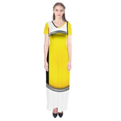 Belgium Flag Country Brussels Short Sleeve Maxi Dress