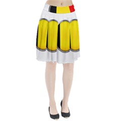 Belgium Flag Country Brussels Pleated Skirt