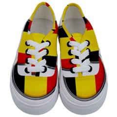 Belgium Flag Country Brussels Kids  Classic Low Top Sneakers