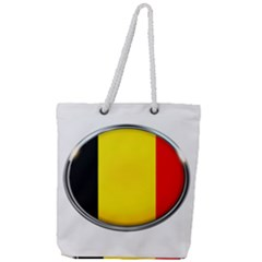 Belgium Flag Country Brussels Full Print Rope Handle Tote (large) by Nexatart
