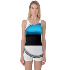 Estonia Country Flag Countries One Piece Boyleg Swimsuit