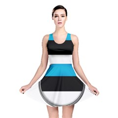 Estonia Country Flag Countries Reversible Skater Dress