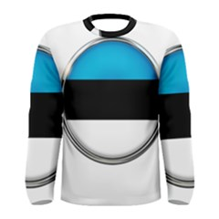 Estonia Country Flag Countries Men s Long Sleeve Tee