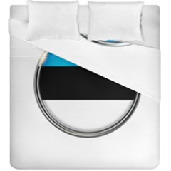 Estonia Country Flag Countries Duvet Cover Double Side (king Size)