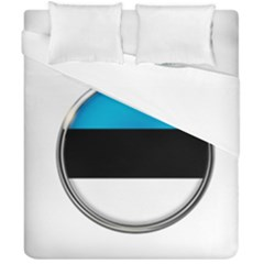 Estonia Country Flag Countries Duvet Cover Double Side (california King Size) by Nexatart