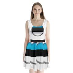 Estonia Country Flag Countries Split Back Mini Dress
