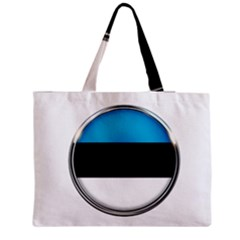 Estonia Country Flag Countries Zipper Medium Tote Bag