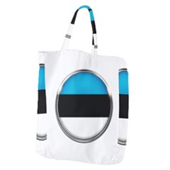 Estonia Country Flag Countries Giant Grocery Zipper Tote