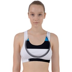 Estonia Country Flag Countries Back Weave Sports Bra