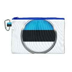 Estonia Country Flag Countries Canvas Cosmetic Bag (large)