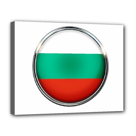 Bulgaria Country Nation Nationality Canvas 14  X 11