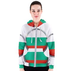 Bulgaria Country Nation Nationality Women s Zipper Hoodie