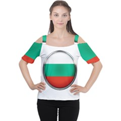 Bulgaria Country Nation Nationality Cutout Shoulder Tee