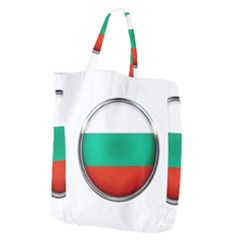 Bulgaria Country Nation Nationality Giant Grocery Zipper Tote