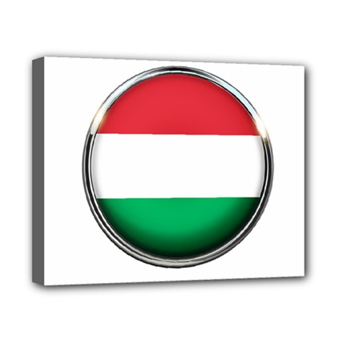 Hungary Flag Country Countries Canvas 10  X 8