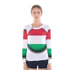 Hungary Flag Country Countries Women s Long Sleeve Tee