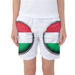 Hungary Flag Country Countries Women s Basketball Shorts