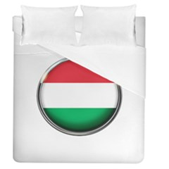 Hungary Flag Country Countries Duvet Cover (queen Size) by Nexatart