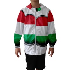 Hungary Flag Country Countries Hooded Wind Breaker (kids)