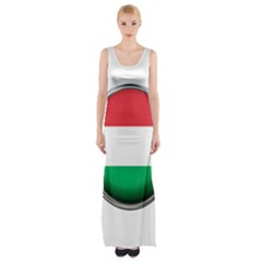 Hungary Flag Country Countries Maxi Thigh Split Dress