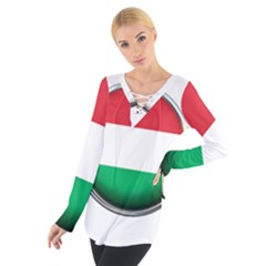 Hungary Flag Country Countries Tie Up Tee