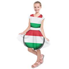 Hungary Flag Country Countries Kids  Short Sleeve Dress