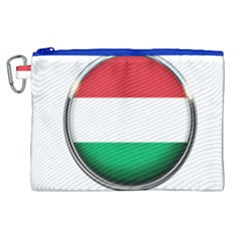 Hungary Flag Country Countries Canvas Cosmetic Bag (xl) by Nexatart