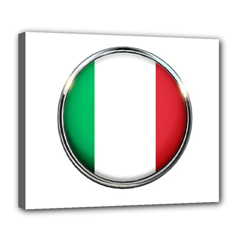 Italy Country Nation Flag Deluxe Canvas 24  X 20