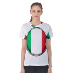 Italy Country Nation Flag Women s Cotton Tee